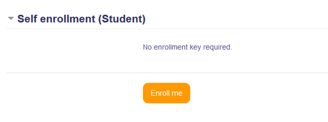 Self-enrollment screen shot for Badges courses in Moodle